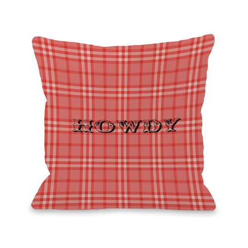 Howdy Rope Plaid Pillow
