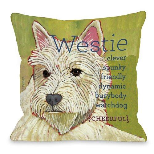 Doggy Décor Westie 1 Throw Pillow