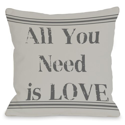 All You Need is Love Vintage Stripe Pillow