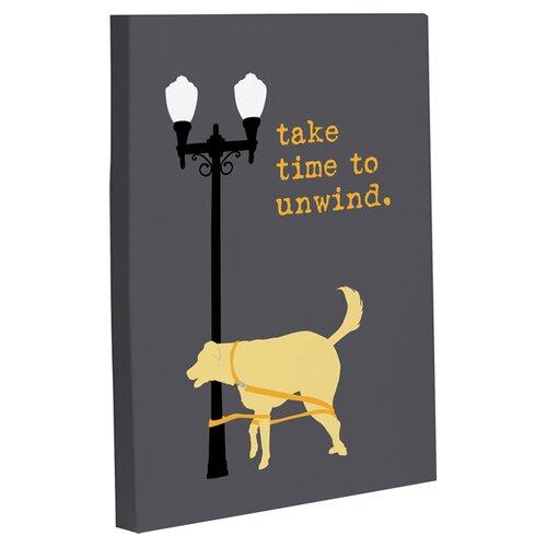 Doggy Decor Unwind Dog Graphic Art on Canvas