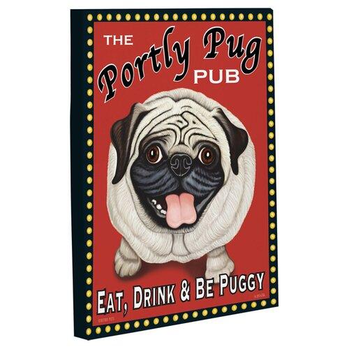 Doggy Decor Portly Pug Graphic Art on Canvas