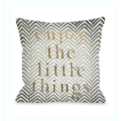 Enjoy The Little Things Chevron Pillow