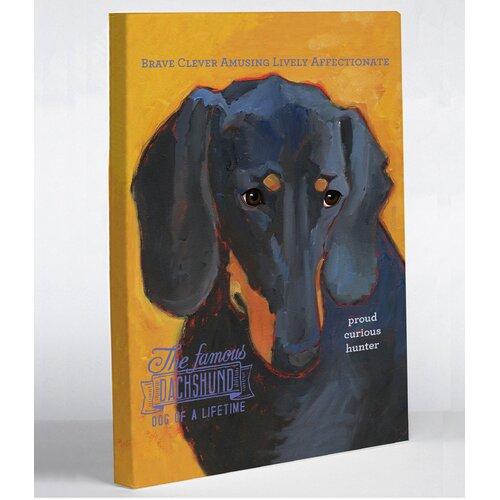 Doggy Decor Dachshund 3 Graphic Art on Canvas