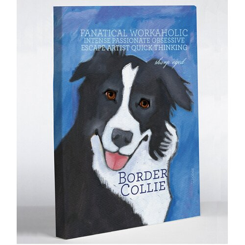 Doggy Decor Border Collie 2 Graphic Art on Canvas