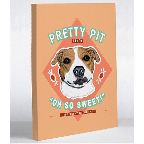 Doggy Decor Pretty Pit Graphic Art on Canvas