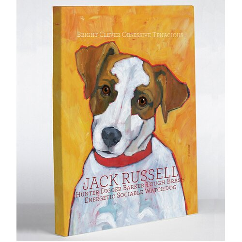 Doggy Decor Jack Russell 2 Graphic Art on Canvas