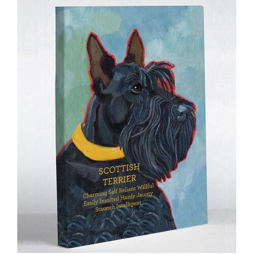 OneBellaCasa.com Doggy Decor Scottish Terrier 1 Graphic Art on Canvas