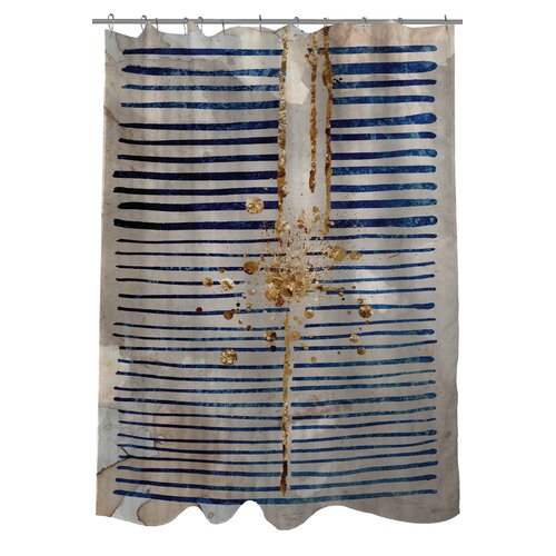 Oliver Gal Love Force Field Polyester Shower Curtain