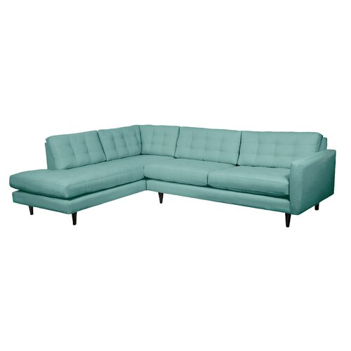 loni m designs mid century left hand facing sectional reviews