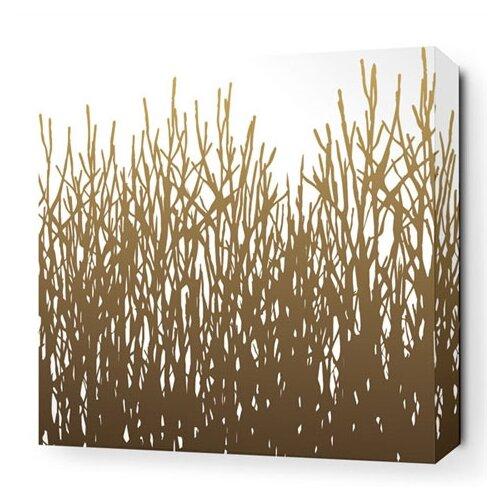 Inhabit Nourish Field Grass Stretched Graphic Art on Canvas