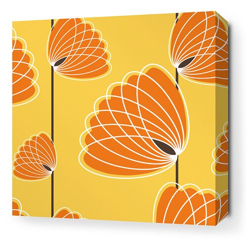 Inhabit Aequorea Lotus Graphic Art on Canvas in Sunflower