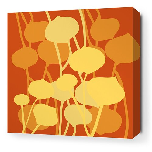 Inhabit Aequorea Seedling Graphic Art on Canvas in Rust
