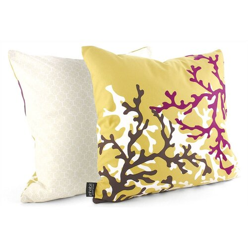 Inhabit Spa Coral Linen Throw Pillow