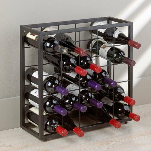 Table Top 25 Bottle Stackable Wine Rack