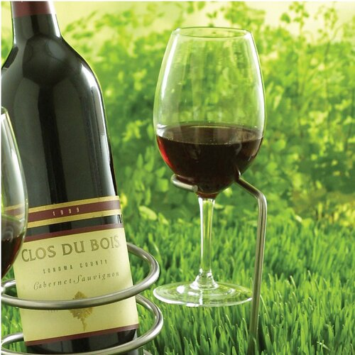 Wine Enthusiast Outdoor Wine Glass Holder
