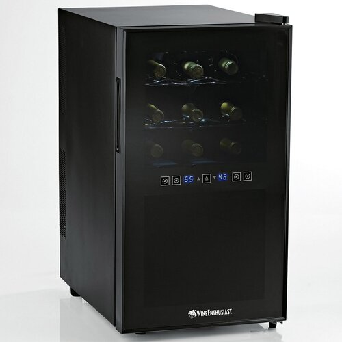 Wine Enthusiast Silent 18 Bottle Dual Zone Thermoelectric Wine Refrigerator