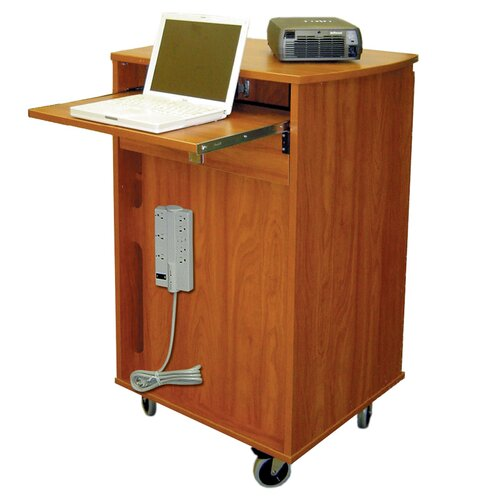 Woodware Furniture Laptop Cart 8 Unit Laptop Presentation Cart