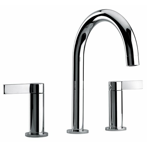 Jewel Faucets J14 Bath Series Two Lever Handle Widespread Bathroom Faucet with Classic Spout