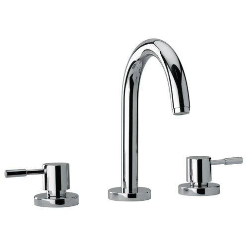 J16 Bath Series Two Lever Handle Roman Tub Faucet with Goose Neck Spout