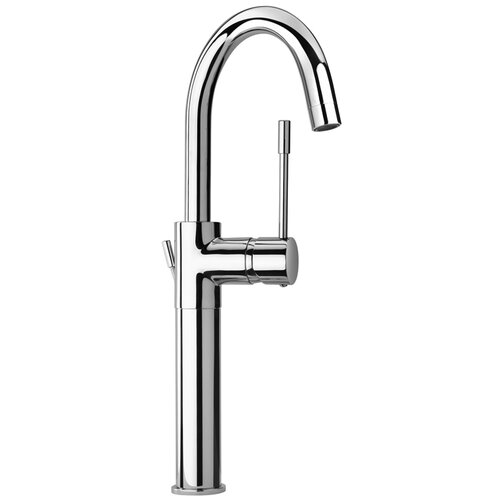 Jewel Faucets J16 Bath Series Single Lever Handle Tall Vessel Sink Faucet with Goose Neck Spout