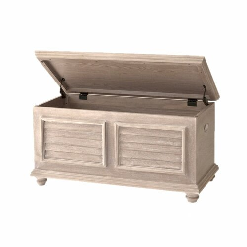 John Boyd Designs Cape May Storage Trunk with Wood Top