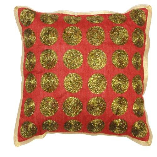 Zari Aari Circles Polyester Pillow