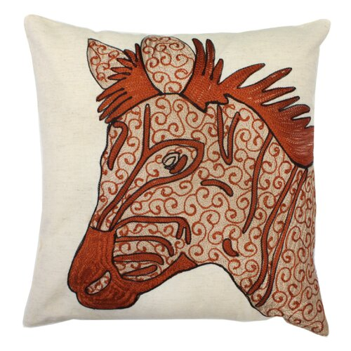 Divine Designs Zebra Cotton Pillow
