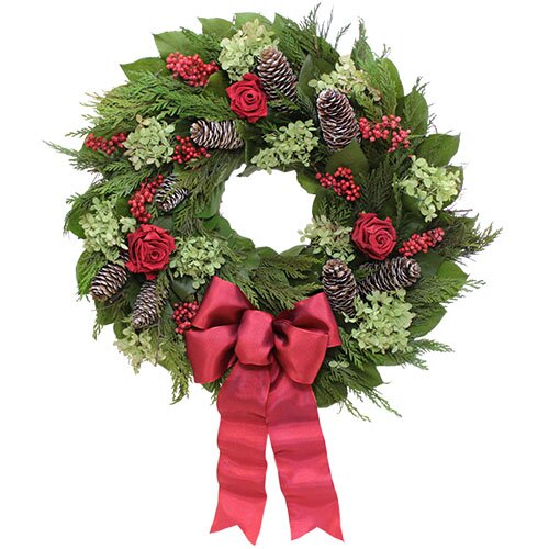 Holiday Holiday Rose Wreath
