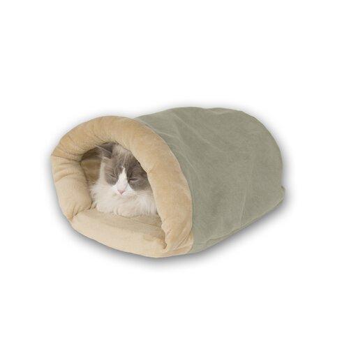 Heated Cat Crinkle Sack in Sage