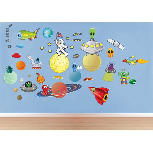 Peel and Play Space/Alien Wall Decal