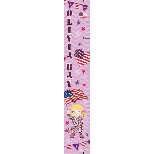 Mona Melisa Designs Patriotic Girl Growth Chart