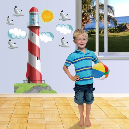 Really Big Lighthouse Wall Decal Set
