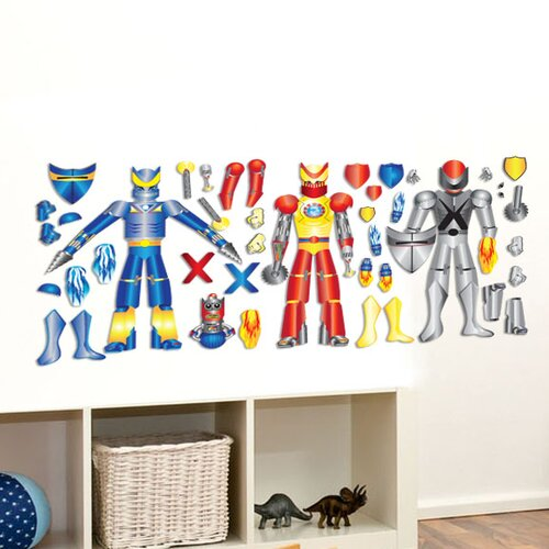 Mona Melisa Designs Peel and Play Robot Wall Decal