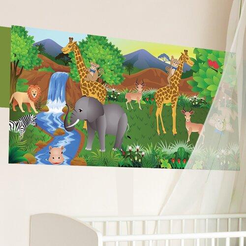 Giraffe Boy Wall Mural