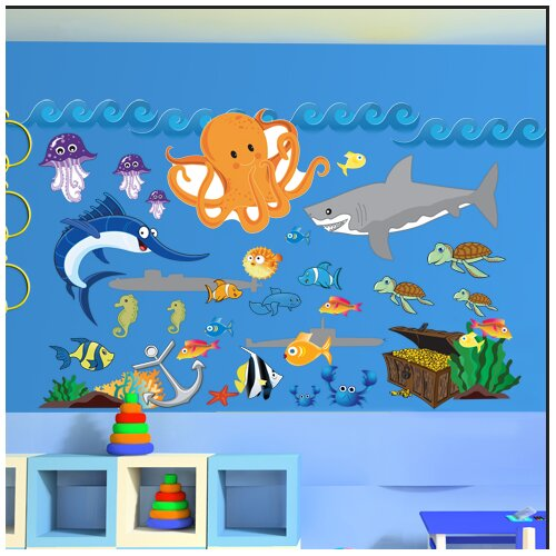 Mona Melisa Designs Peel and Play Ocean Boy Wall Decal