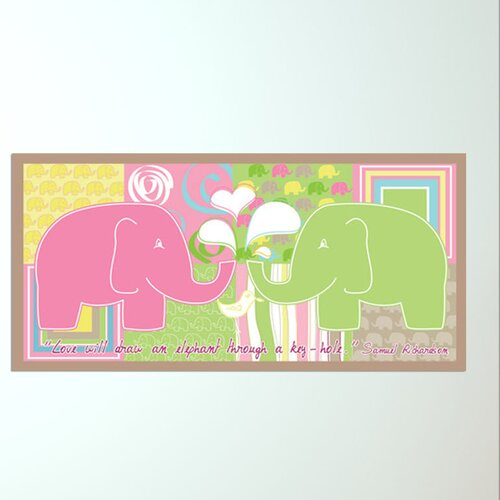 Elephant Girl Wall Mural
