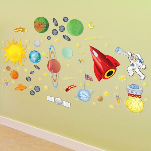 Peel and Play Space Wall Decal