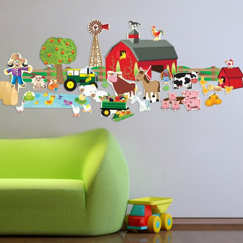 Peel and Play Farm Plus Wall Decal