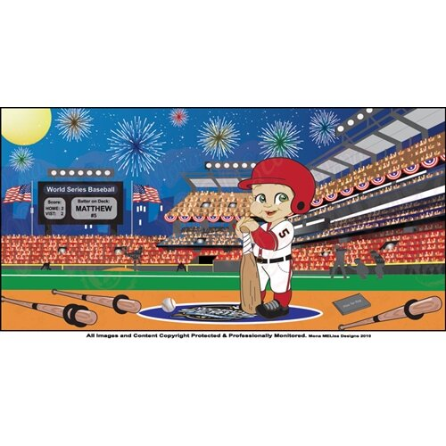 Mona Melisa Designs Baseball Boy Wall Mural