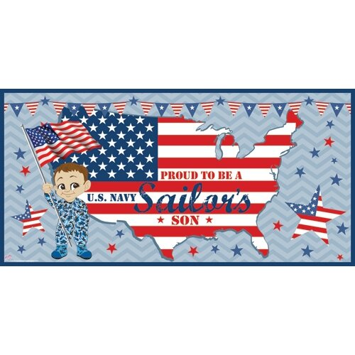 Mona Melisa Designs Patriotic Boy Wall Mural