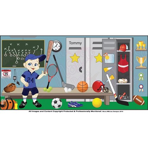 Mona Melisa Designs Sports Boy Wall Mural