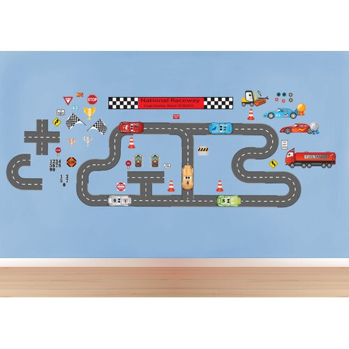 Mona Melisa Designs Peel and Play Race Car Wall Decal