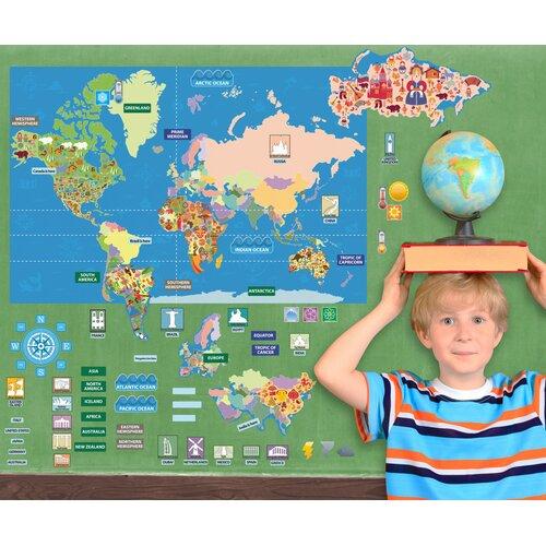 Mona Melisa Designs Peel, Play and Learn World Map