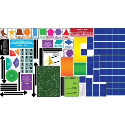 Peel, Play and Learn Geometry Wall Play Set