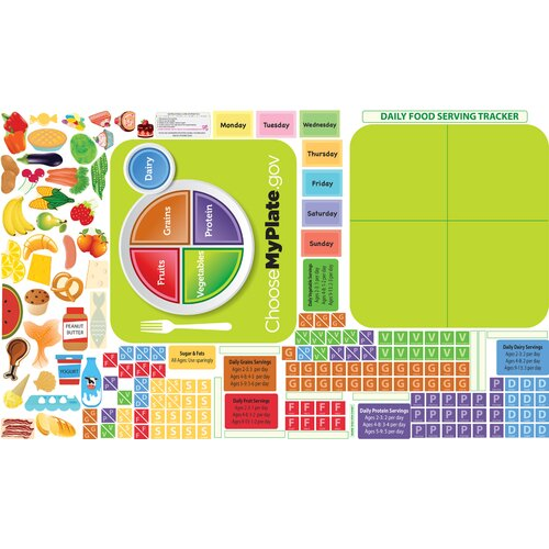 Peel, Play and Learn Healthy Eating Wall Play Set