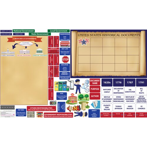 Peel, Play and Learn US Government Wall Play Set