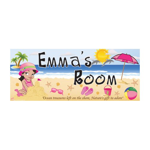 Beach Girl Name Wall Plaque