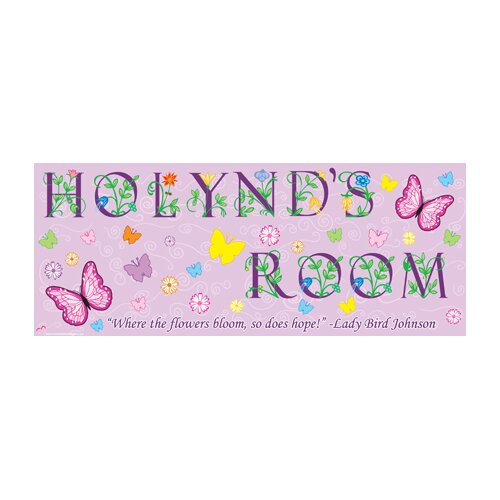 Mona Melisa Designs Butterfly Girl Wall Plaque