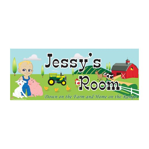 Farm Boy Name Wall Plaque