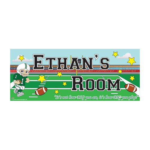Mona Melisa Designs Football Boy Name Wall Plaque